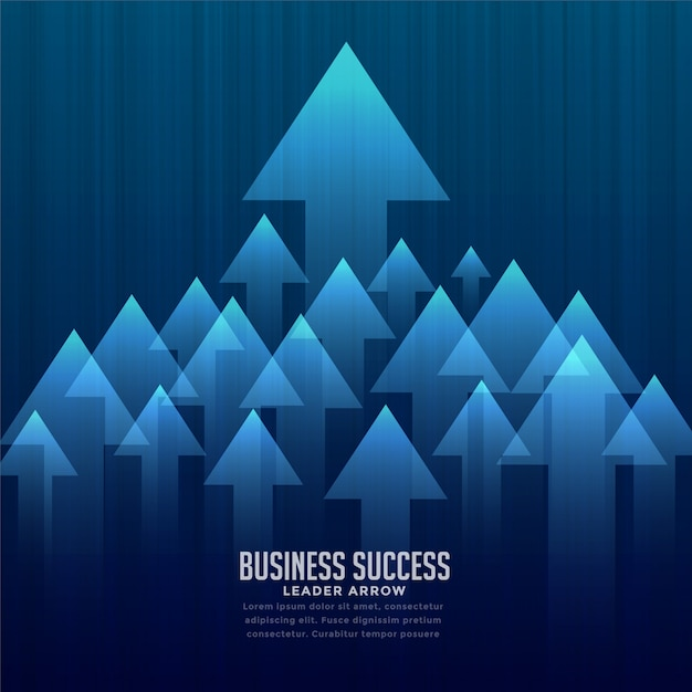 Stylish business leader background Free Vector