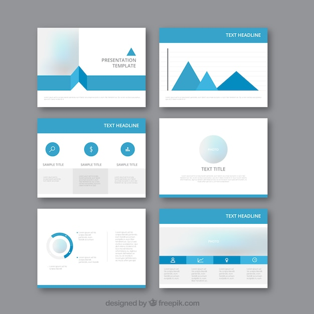 stylish business presentation template vector | free download, Presentation templates