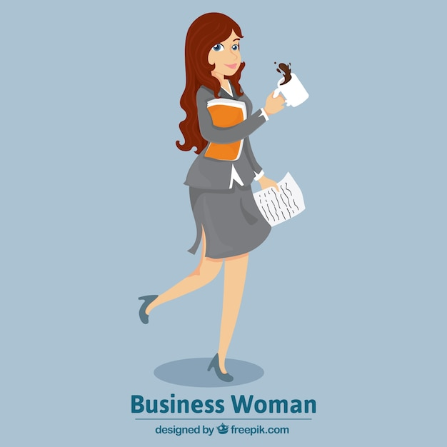 Stylish business woman  Free Vector