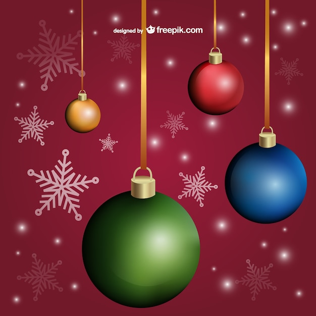 Stylish Christmas Cards Background Vector Free Vector
