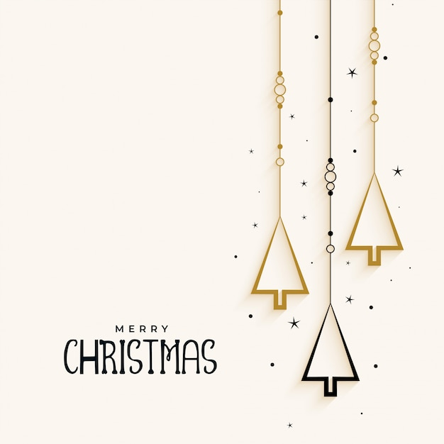 Stylish christmas tree elegant background Free Vector