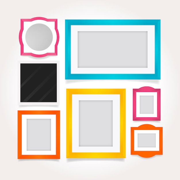 Stylish colored frames in flat design Vector | Free Download