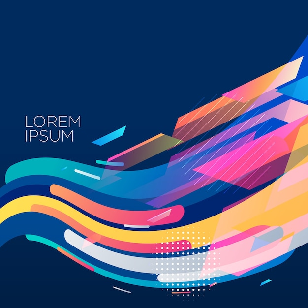 stylish colorful wave background design Free Vector