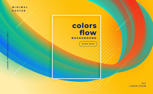 Stylish colors flow abstract background Free Vector