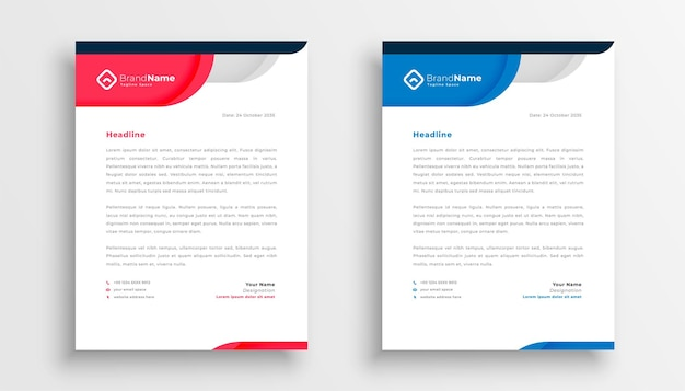 Stylish company letterhead template for business identity Free Vector