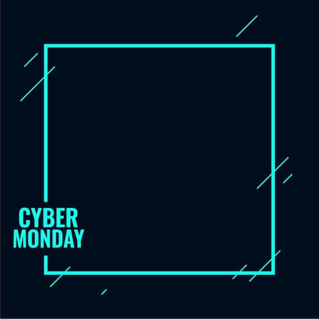 할인을위한 세련된 사이버 월요일 기술 배경 무료 벡터