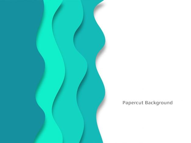 세련 된 장식 papercut 배경 무료 벡터