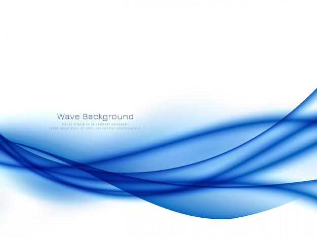 Elegante elegante onda blu sullo sfondo Vettore gratuito