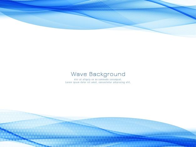 Elegante elegante onda blu disegno vettoriale di sfondo Vettore gratuito