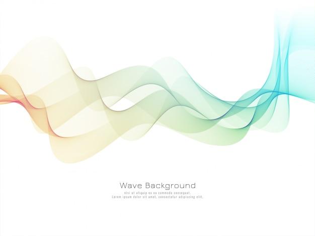 Elegante elegante onda colorata vettore di sfondo Vettore gratuito