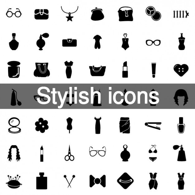 Stylish and fashion icons Vector