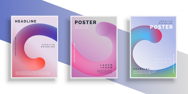Stylish flyer background poster design with text space Free Vector