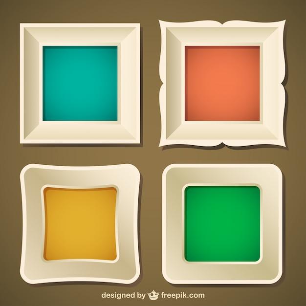 Stylish frame set | Free Vector