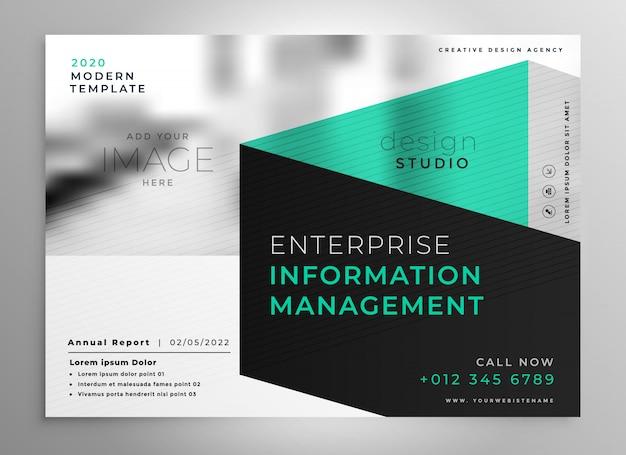 Stylish Geometric Professional Brochure Template Vector Free Download
