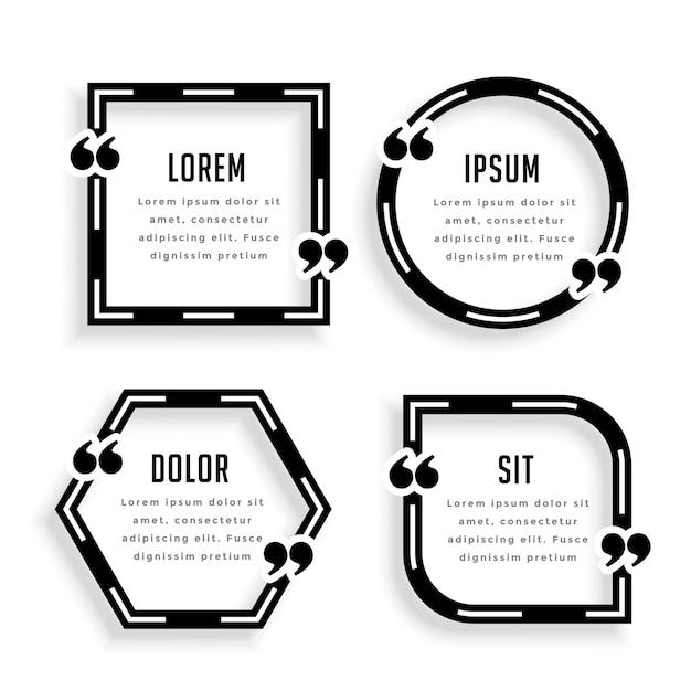 Стильный геометрический дизайн шаблона цитаты Бесплатные векторы