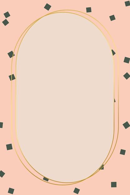 Stylish golden frame Free Vector