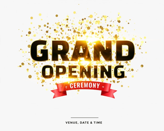 Stylish grand opening ceremony template Free Vector