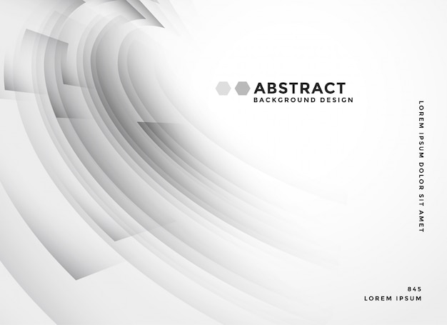 Stylish gray curvy background abstract Free Vector
