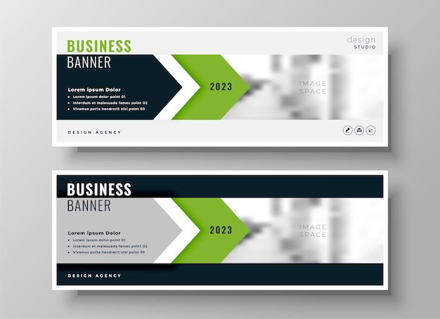 Stylish green corporate business facebook cover or header template design Free Vector