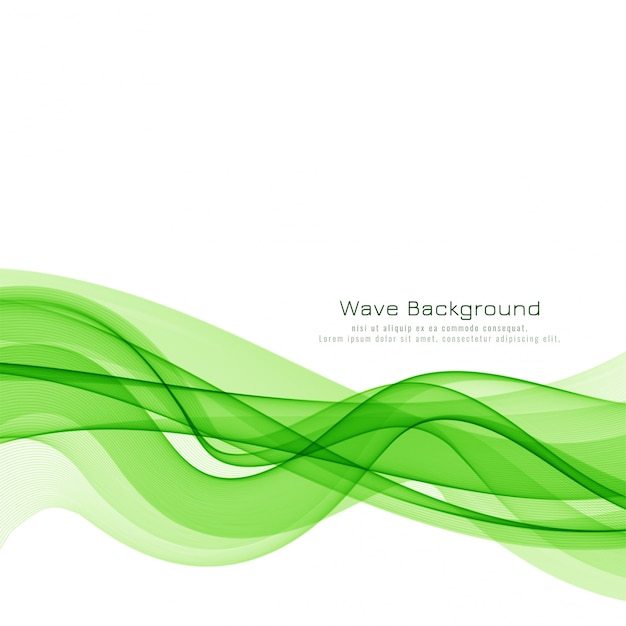 Stylish green wave background Free Vector