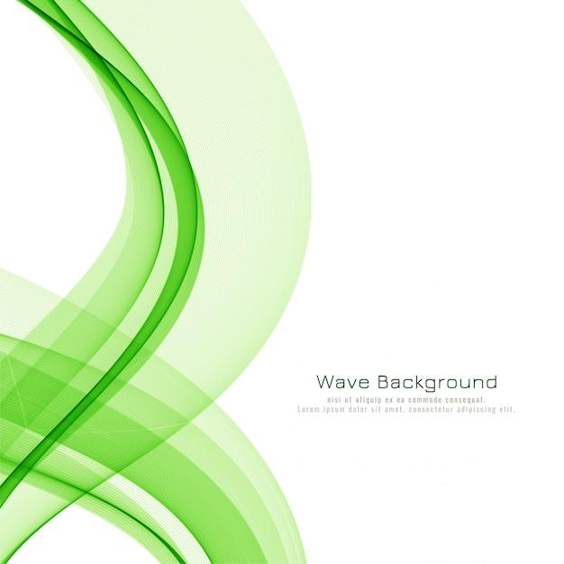 Stylish green wave elegant background Free Vector