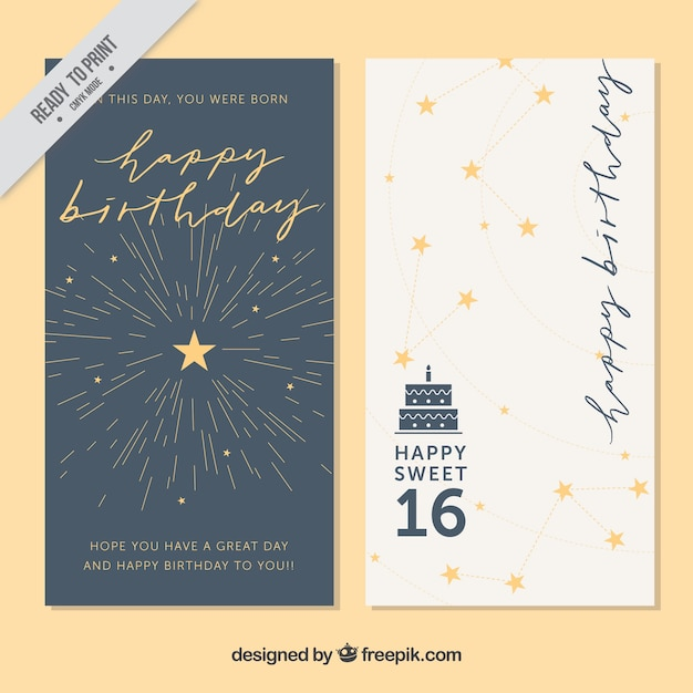 Stylish greeting cards with stars vector free download stylish greeting cards with stars free vector m4hsunfo