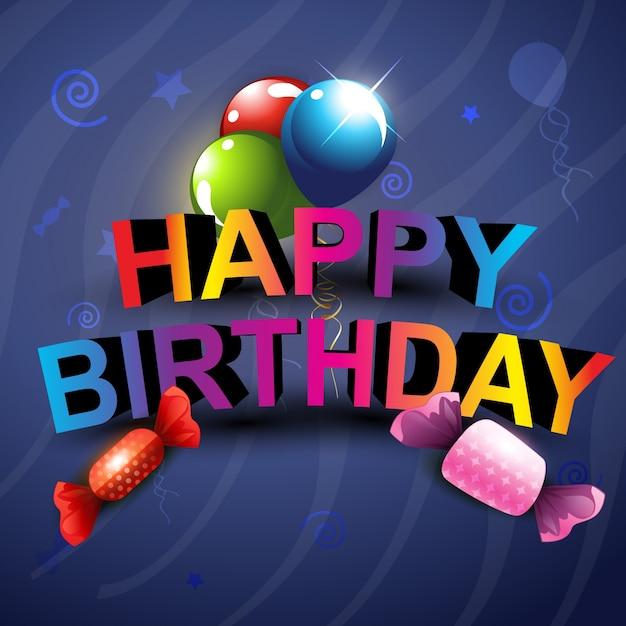Stylish Happy Birthday Background Design Vector