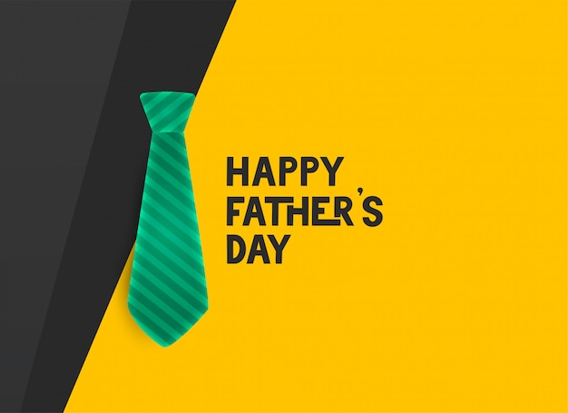 Stylish happy fathers day tie Free Vector