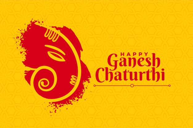 Stylish happy ganesh chaturthi creative card design | Free Vector