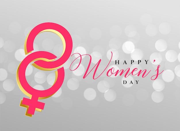 Stylish happy women's day background design Free Vector