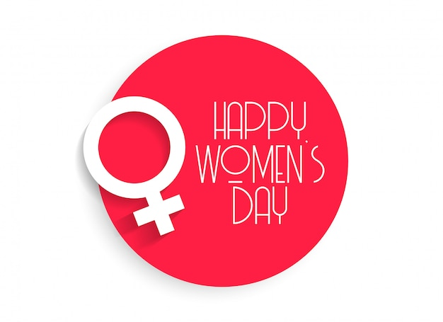 Stylish happy women's day background Free Vector