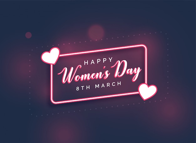 Stylish happy women's day lovely background Free Vector