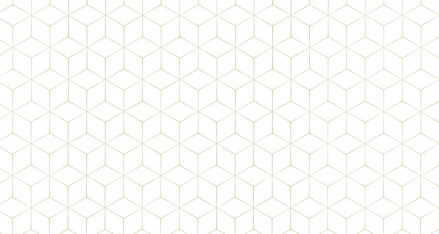 Stylish hexagonal line pattern background Free Vector