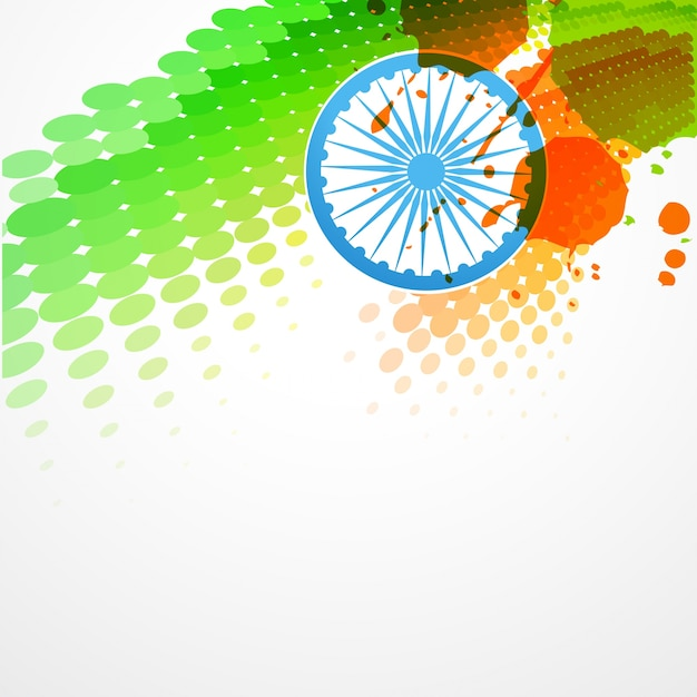 Stylish indian flag design Free Vector