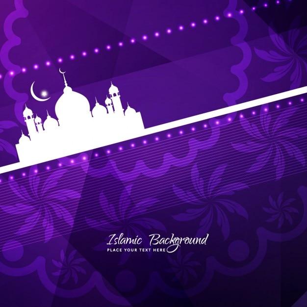 Stylish islamic background with mosque