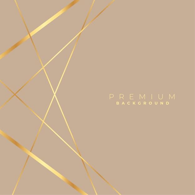 Elegante basso poli linee dorate sfondo incantevole Vettore gratuito