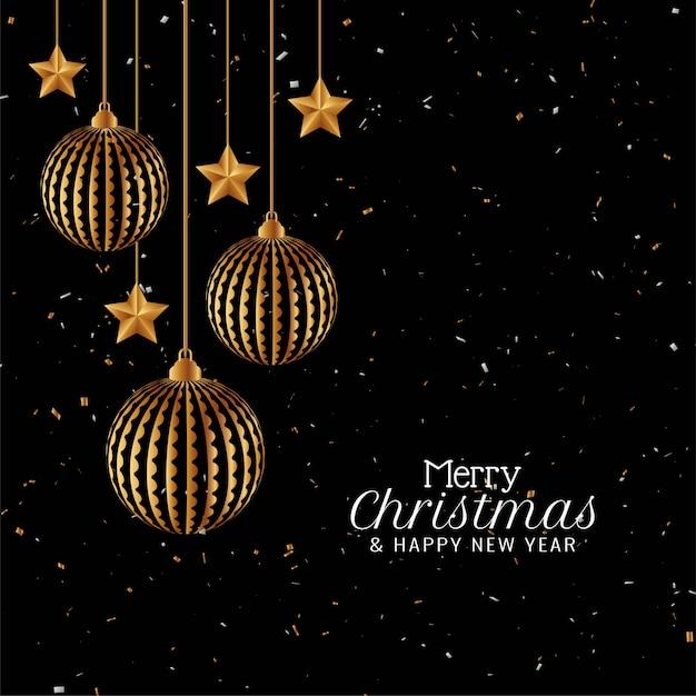 Stylish merry christmas elegant modern background Free Vector
