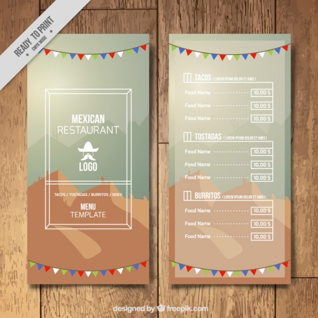 stylish mexican menu template vector premium download
