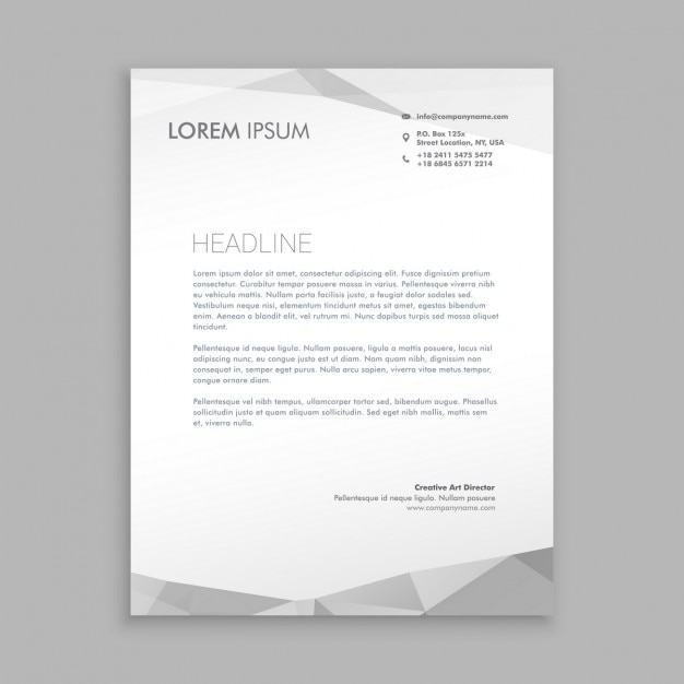 Stylish modern letterhead design vector free download Blueprint designer free