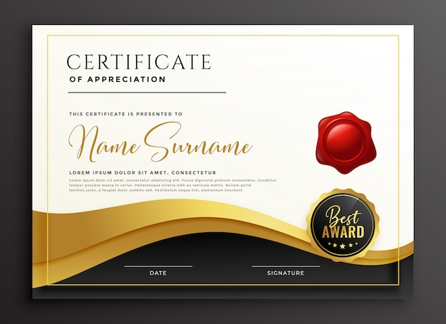 Stylish multipurpose diploma certificate template Free Vector