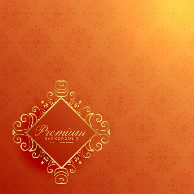 stylish orange golden invitation background vector free download