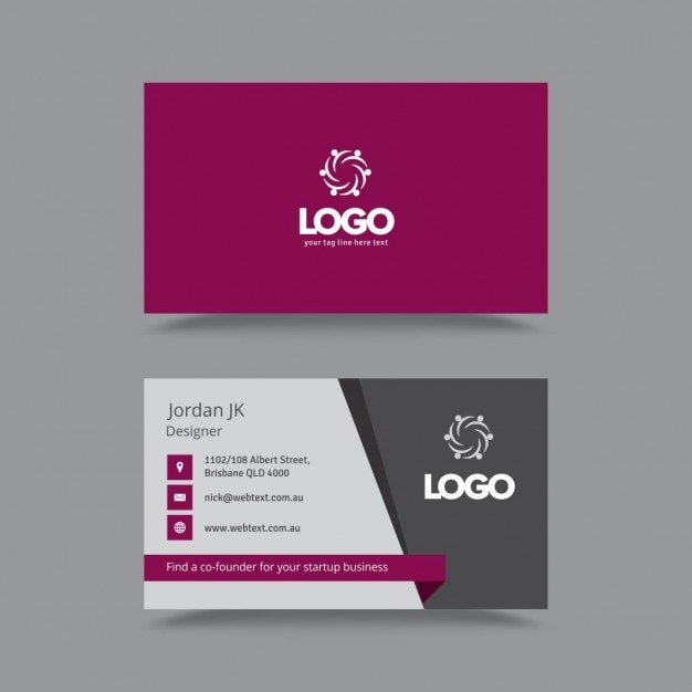 Stylish Professional Business Card Vector : Free Download