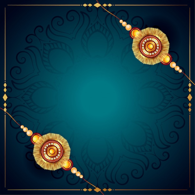Stylish raksha bandhan rakhi festival design background Free Vector