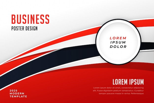 Modello di brochure elegante presentazione aziendale rosso Vettore gratuito