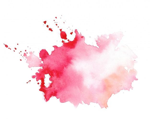 Стильная красная акварель брызги текстуры пятно Бесплатные векторы