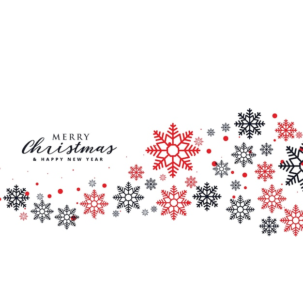 Stylish snowflakes background for christmas holiday season Free Vector