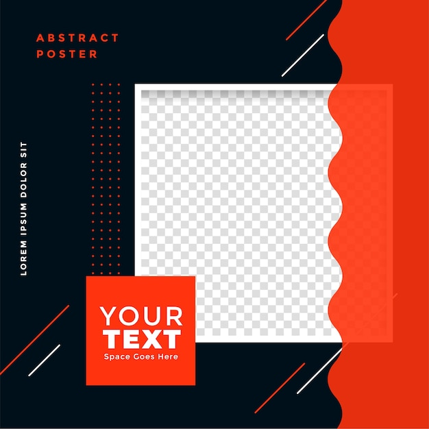 Stylish social media post template with image space Free Vector