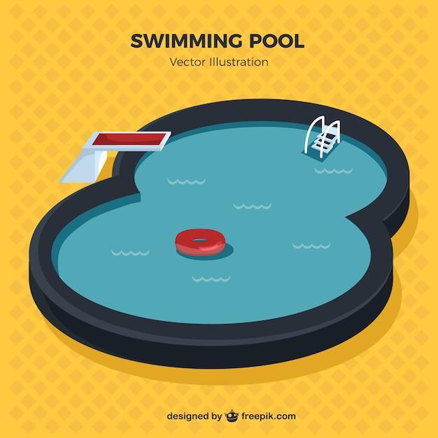 Stylish swimming pool illustration
