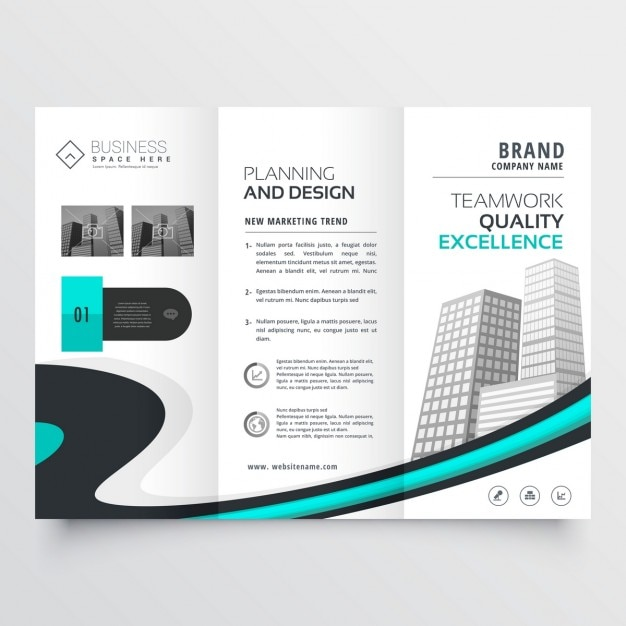 stylish trifold brochure presentation template vector | free download, Presentation templates