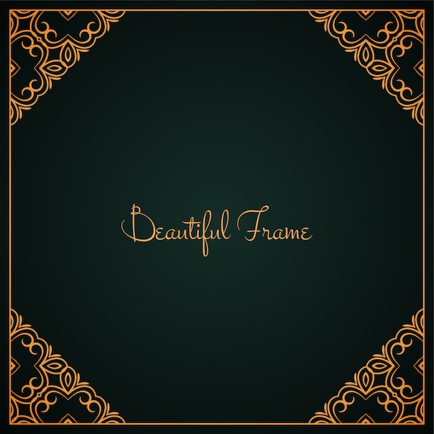 Stylish vector beautiful frame design background Free Vector